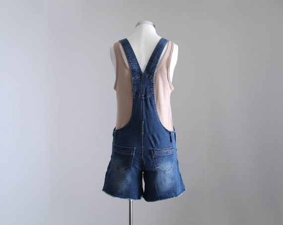 Denim Overall Shorts, Womens Petite Overalls, Y2K… - image 5