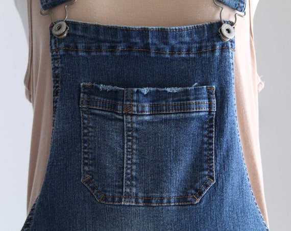 Denim Overall Shorts, Womens Petite Overalls, Y2K… - image 6