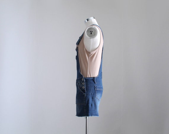 Denim Overall Shorts, Womens Petite Overalls, Y2K… - image 4