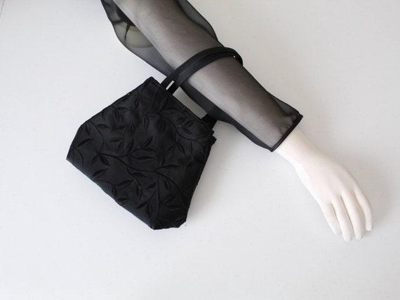 90s Vintage Tiny Bag, Y2K Tiny Tote Bag, Embroider