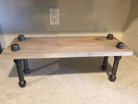 "6"" Deep-Display Shelf-Rustic- Kitchen Shelf- Rustic Industrial-  Housewarming gift- Rustic Bathroom Shelf-Countertop Shelf- Kitchen organizer"