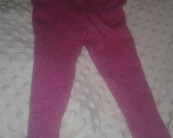 Pink cashmere wool leggings