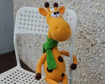 Crochet giraffe toy Giraffe for small babies Giraffe for newborns Giraffe stuffed toy Hand crochet toy Giant Sized Giraffe  Amigurumi