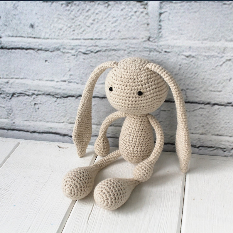 Amigurumi crocheted bunny Crochet Rabbit Easter Bunny Birthday Gift Amigurumi Crochet Toy Handmade Easter stuffed rabbit Mother/'s Day gift