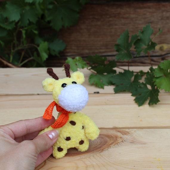 Crochet Giraffe Yellow Plushies Toys Crochet Miniature Giraffe Etsy