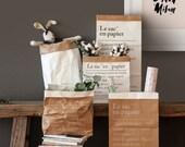 French Paper Bag Storage, Kraft Paper Bags, Paper Sack Storage, Kids Interior, Toy Storage, Storage Bags, Gift Wrap, Simple Living, Nordic