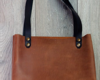 1f3343b0a80 Horween leather tote   Etsy