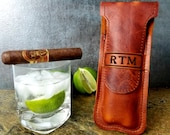 Leather Cigar Case - Personalized