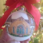 ONE Custom Hand-painted Illustrated Church or Home Ornament