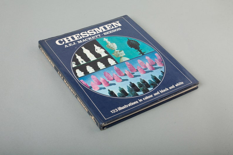 Vintage Chess Piece Collectors Reference Book Chess Collection Book Chess Book English Edition from the 1970/'s