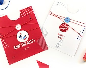 Save the Date wedding GRAPHIC •• geometry and PEP are honored!