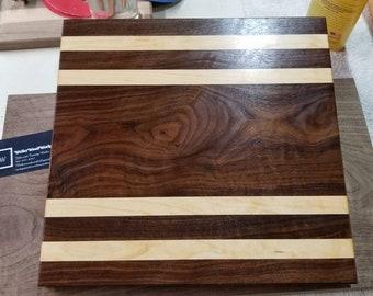 12x13x1.25 Beautiful walnut and maple cutting board.