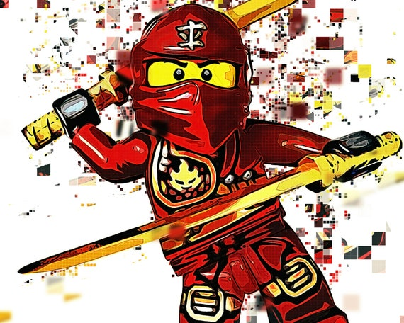 Kai Lego Printable Red Ninja Pixel Art Rise Of The Snakes Masters Of Spinjitzu Ninja Of Fire Lego Ninjago Movie Way Of The Ninja