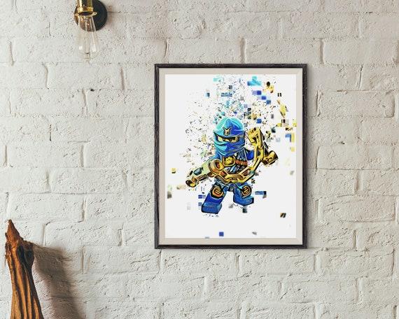 Jay Walker Lego Blue Ninja Jay Gordon Ninjago Poster Rise Of The Spinjitzu Master Instant Download Printable Artwork 8 X 10 Inches
