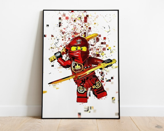 Kai Lego Printable Red Ninja Pixel Art Rise Of The Snakes Masters Of Spinjitzu Ninja Of Fire Lego Ninjago Movie Way Of The Ninja