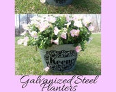 Personalized Galvanized Tubs, drink bucket mother 39 s day flower bucket flower planter galvanized bucket outdoor galvanized metal home decor