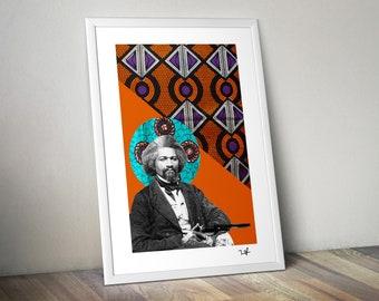 09e7a590daf0c Frederick Douglass - Limited Edition Print - A4 Print - Digital Collage - Black  Art - African Art