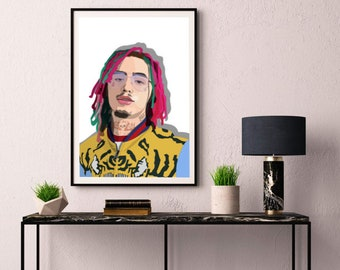 Cardi B INSPIRED WALL ART Print Poster Minimal A4 A3 HIP HOP RAP bodak yellow