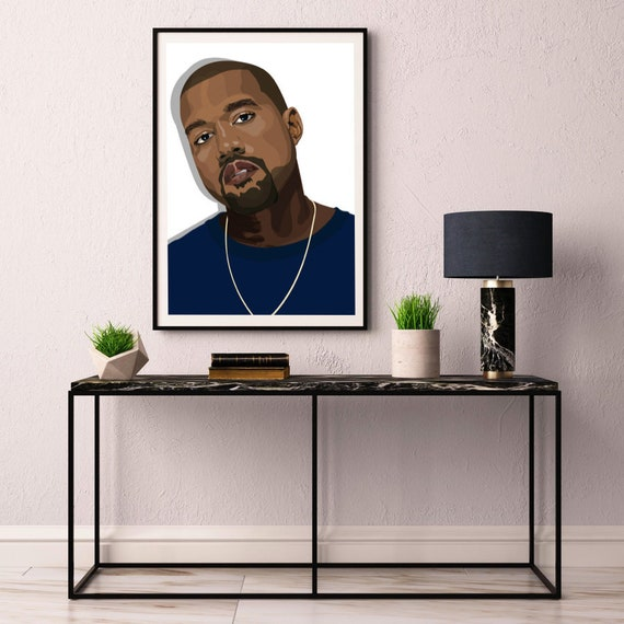 KANYE WEST Music Icon Poster Picture Print Sizes A5 to A0 **FREE DELIVERY**