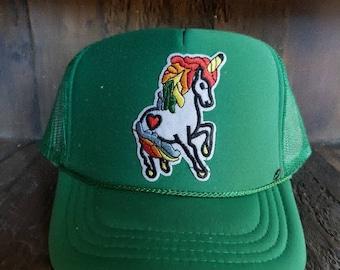 Kids trucker hat. Unicorn hat. 9677f60608ba