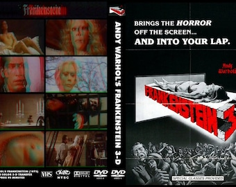 Andy Warhol's Frankenstein 1973 Paul Morrissey 3-D Red/Blue Anaglyph DVDR with Glasses!
