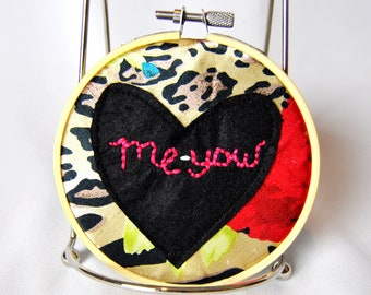 "Homemade ""Me-Yow"" Embroidery Hoop"