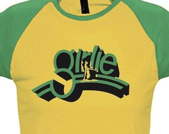 d2ed41be2f1d84 Retro Girlie Shirt Womens Raglan Colour-T Milky