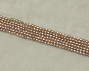 2-3mm natural purple pearl strings,rice loose strands,tiny pearl beads,small pearls,natural color pearl strings.