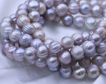 11-12mm circled pearl strings,natural purple pearl necklace,pearl beads,fresh water pearl .