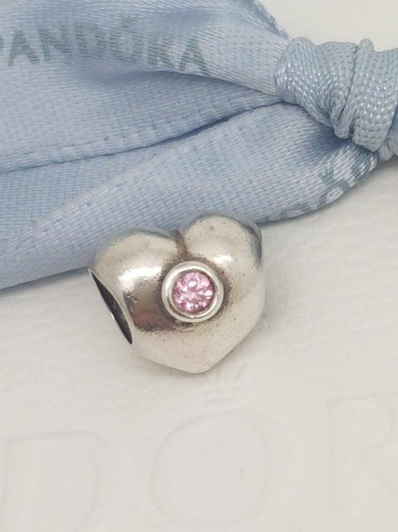 c420db83a Authentic Genuine Pandora Silver Pink CZ Heart Charm 790134PCZ | Etsy