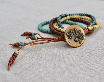 Boho Pop Wrap Bracelet