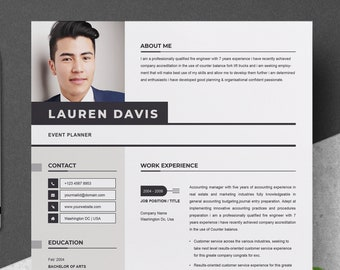 professional resume template for word apple pages cv resume cover letter 2 pages curriculum vitae instant download resume