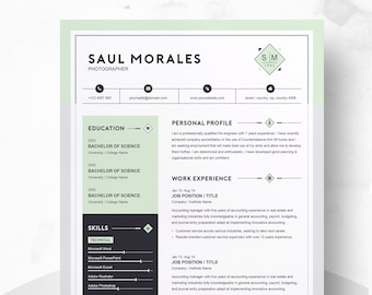 Modern Resume Design Template 3 Page