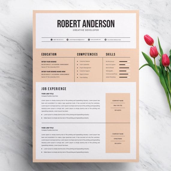Modern Creative Resume Template for MS Word Format | CV, Minimalist CV,  Professional Resume, Creative Resume, Modern Resume Template