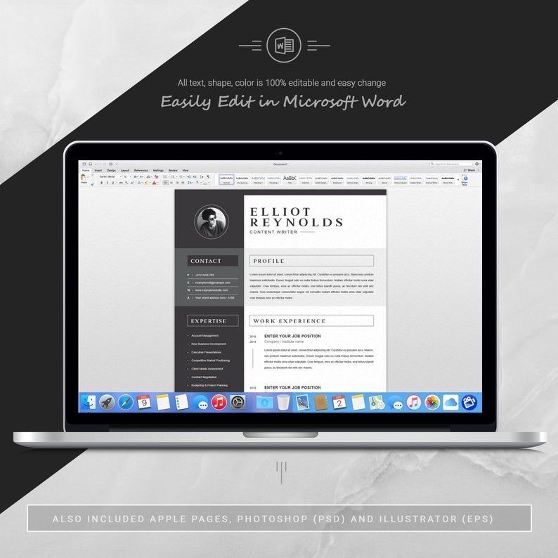 Professional Word ResumeCV /& Cover Letter Template