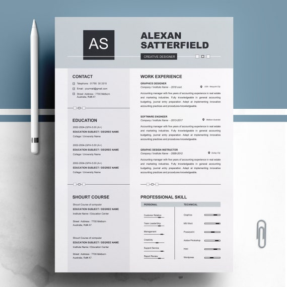 Apple Pages Resume Template Curriculum Vita Ms Word Resume Cv Design