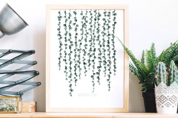 affiche planteaquarelle planteposter plantes ne on de etsy. Black Bedroom Furniture Sets. Home Design Ideas