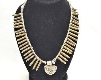 Ethiopian Antique Telsum Silver Phallic Pendants Necklace