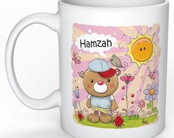 Bear named Mug Children Cup cup gift mug individual