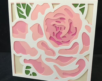 Layers Rose Card