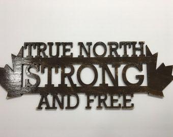 Laser cut wood Canada Sign