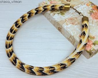 Bead Crochet Rope necklace - Python necklace - Snake nekclace