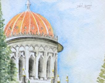 Bahai shrine - Haifa, Israel - print of original