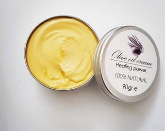 Natural Handmade Olive Oil Cream with Lavender and Lime Extract
