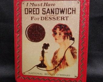 1992 Oreo Cookie Tin Replica of 1918 Oreo Ad
