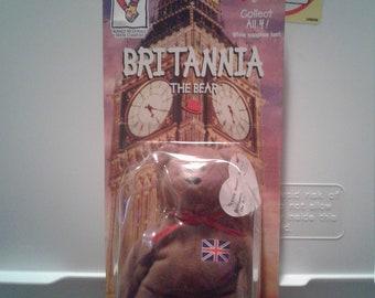 "Rare ""Limited Edition"" ""Britannia The Bear""  Represents The UK ""1999"" Ronald McDonald Charities"