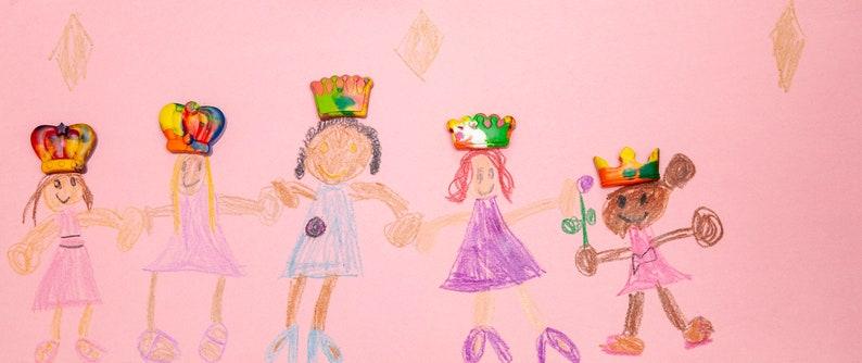 Rainbow Crayons Princess Birthday Crown Crayon Kids Gift Princess Crayons Set of 20 Kids Crayons Princess Party Royal Party