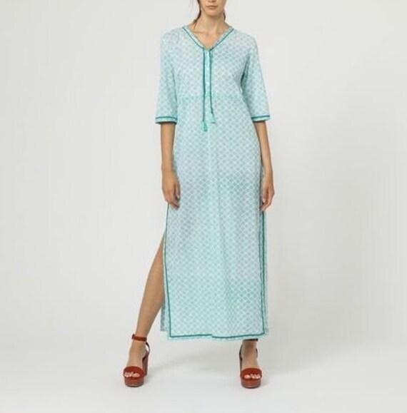 Hippie chic cotton veil dress