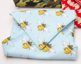 Reusable Sandwich Wrap, Lunch Wrap, Honey Bee kids design, Waterproof, Eco Friendly, Waste Free
