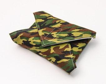 Reusable Sandwich Wrap, Lunch Wrap, Camouflage kids design, Waterproof, Eco Friendly, Waste Free
